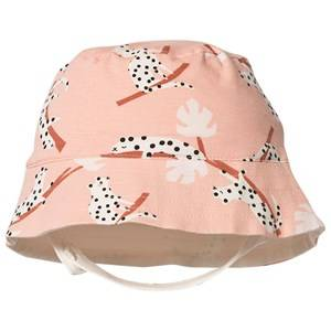 The Bonnie Mob Leopard Bigsur Sun Hat Peach Sun hats