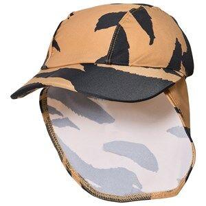 Mini Rodini Tiger Swim Cap Brown Sun hats