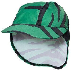 Mini Rodini Tiger Swim Cap Cap Green Sun hats
