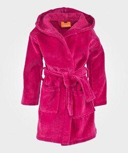 Lindberg Girls Childrens Clothes Nightwear Pink Orbaden Bathrobe Cerise