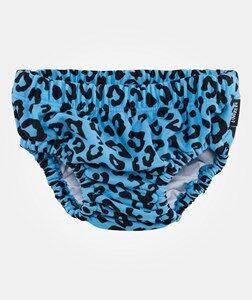 Lindberg Unisex Childrens Clothes Swimwear and coverups Blue Animal Swim Diaper Light Blue/Black