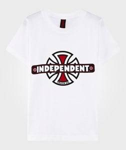 independent Boys Childrens Clothes Överdelar White Vintage Youth Tee White