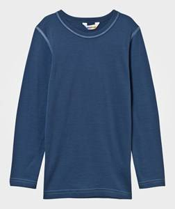 Joha Unisex Childrens Clothes Tops Blue Tee Solid Blue