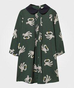 Bobo Choses Girls Childrens Clothes Dresses Green Hand Trick Princess Dress