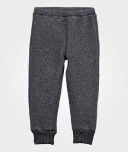 Mikk-Line Unisex Childrens Clothes Bottoms Grey Wool Pants Melange Grey