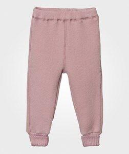 Mikk-Line Girls Bottoms Pink Wool Pants Wild Rose