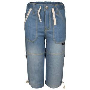 Lundmyr Of Sweden Unisex Childrens Clothes Bottoms Cargo Jeans Blue Heart Print