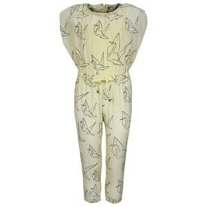 Image of Pale Cloud Girls Childrens Clothes All in ones Yellow Drew Jumpsuit Yellow