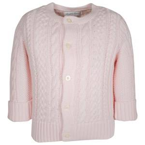 Image of Ralph Lauren Girls Childrens Clothes Jumpers and knitwear Pink Aran-Knit Cotton Cardigan Morning Pink