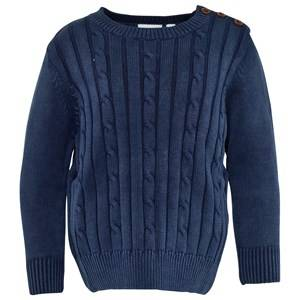 eBBe Kids Unisex Childrens Clothes Jumpers and knitwear Blue Nat Cable Knit Sweather Indigo Blue