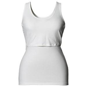 Boob Girls Maternity Clothes Maternity tops White Classic Singlet White