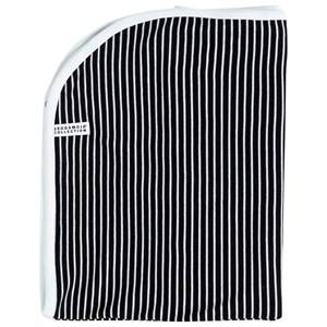 Image of Geggamoja Unisex Childrens Clothes Textile Black Blanket Classic Black/White