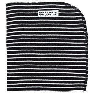 Image of Geggamoja Unisex Childrens Clothes Textile Black Cuddly Blanket Classic Black/White