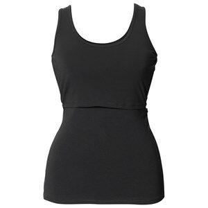 Boob Girls Maternity Clothes Maternity tops Black Classic Singlet Black