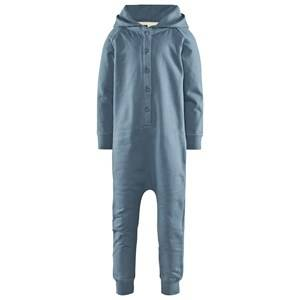 Image of Gray Label Unisex Childrens Clothes All in ones Blue Hooded Jumpsuit Denim