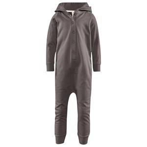 Image of Gray Label Unisex Childrens Clothes All in ones Grey Hooded Jumpsuit Dark Grey