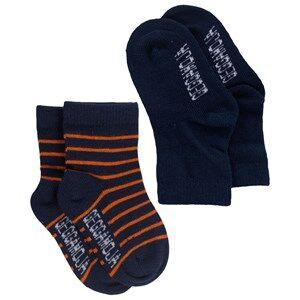 Geggamoja Boys Childrens Clothes Underwear Blue Socks Marine/Orange