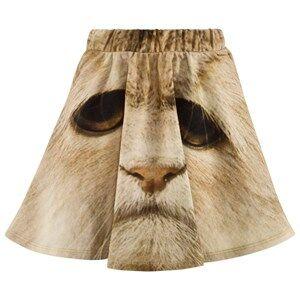 Popupshop Girls Childrens Clothes Skirts Multi Base Skirt White Cat