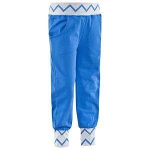 Geggamoja Unisex Childrens Clothes Bottoms Grey Pants Zick Zack Grey Mel/Blue