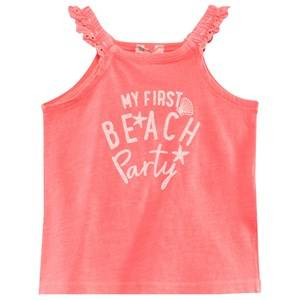 United Colors of Benetton Girls Childrens Clothes Tops Red Beach Party Tank Coral