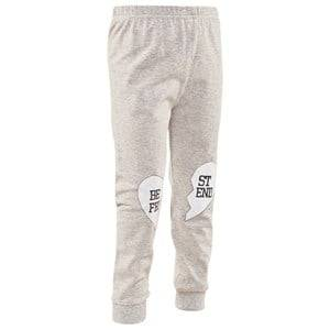 Image of Gardner and the gang Unisex Childrens Clothes Bottoms Grey Best Friend Leggings Heather Grey