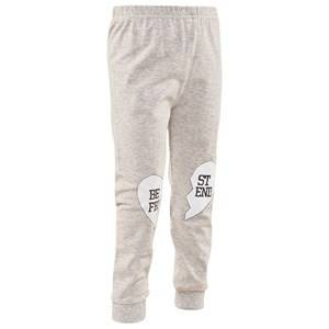 Gardner and the gang Unisex Childrens Clothes Bottoms Grey Best Friend Leggings Heather Grey