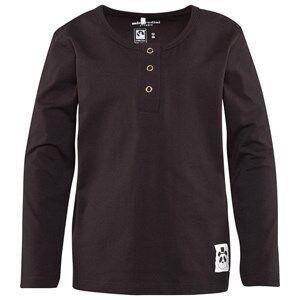 Mini Rodini Unisex Childrens Clothes Tops Black Basic Long Sleeve Grandpa Top Black
