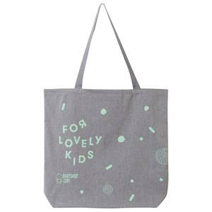 Image of Babyshop.com Unisex Childrens Clothes Storage Grey Recycled Tote Bag Babyshop