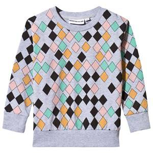 Image of Gardner and the gang Unisex Childrens Clothes Jumpers and knitwear Grey Light Harlequin Sweater Grey