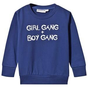Image of Gardner and the gang Unisex Childrens Clothes Jumpers and knitwear Navy Light Girl Gang Boy Gang Sweater Navy