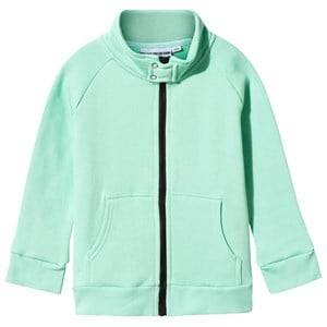 Gardner and the gang Unisex Childrens Clothes Coats and jackets Green I Love Hot Dogs Track Suit Jacket Mint