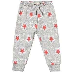 Stella McCartney Kids Unisex Childrens Clothes Bottoms Grey Loopie Trouser Stars Pebble