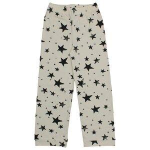 Noe & Zoe Berlin Unisex Childrens Clothes Nightwear White PJ Pants Black Stars