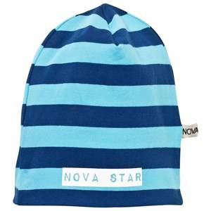 Nova Star Unisex Childrens Clothes Headwear Blue Beanie Striped Blue