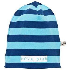 Nova Star Unisex Childrens Clothes Headwear Blue Beanie Striped Blue