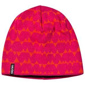 Isbjörn Of Sweden Unisex Childrens Clothes Headwear Pink Tiptop Knitted Cap Smoothie