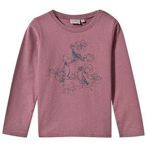 Wheat Girls Childrens Clothes Tops Purple T-Shirt Birds Talk Lavender
