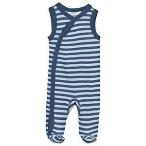 Joha Unisex Childrens Clothes All in ones Blue Footed Baby Body Stripe Blue