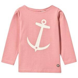 Emma och Malena Unisex Childrens Clothes Tops Pink Nisse T-Shirt Old Pink