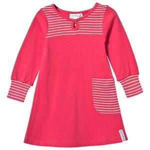 Geggamoja Girls Childrens Clothes Dresses Pink Pocket Dress Raspberry/Light Pink