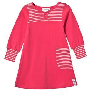 Geggamoja Girls Childrens Clothes Dresses Pink Pocket Dress Raspberry/Light Pink