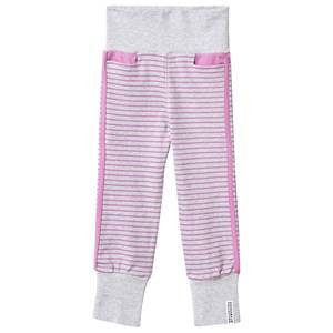 Geggamoja Girls Childrens Clothes Bottoms Grey Baby Pants Light Grey Mel/Lilac