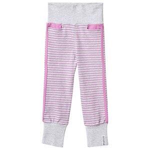 Geggamoja Girls Childrens Clothes Bottoms Grey Baby Pants Light Grey Mel/Lilac