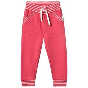 Geggamoja Girls Childrens Clothes Bottoms Pink College Pants Raspberry