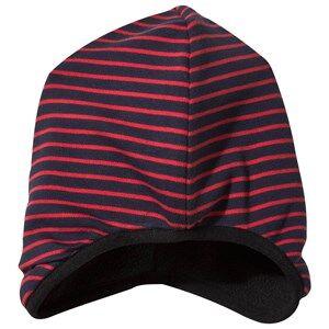 Geggamoja Unisex Childrens Clothes Headwear Navy Beanie Navy/Red