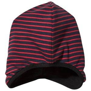 Geggamoja Unisex Childrens Clothes Headwear Navy Beanie Navy/Red