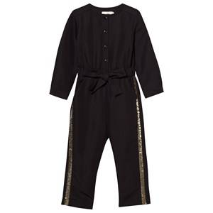 Image of Billieblush Girls Childrens Clothes All in ones Black Jumpsuit Black