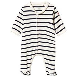 Petit Bateau Unisex Childrens Clothes All in ones Multi Footed Baby Body Coquille/Abysse