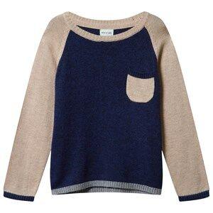 Mini A Ture Unisex Childrens Clothes Tops Multi Sandro BM Blouse Grisaille Blue