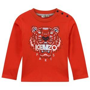 Kenzo Boys Childrens Clothes Tops Orange Azur T-shirt Orange